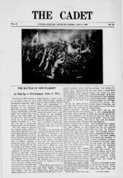 The Cadet. VMI Newspaper. May 17, 1909 - New Page 1 - Virginia ...