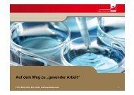 """Auf dem Weg zu """"gesunder Arbeit"""" – Vortrag von Stefan Weis"""