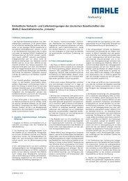 Einheitliche Verkaufs- und Lieferbedingungen der ... - MAHLE Industry