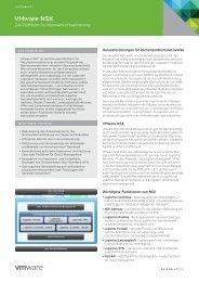 NSX-Produktdatenblatt PDF - VMware