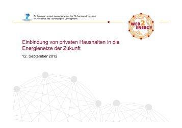 Einbindung von privaten Haushalten in die ... - Web2Energy