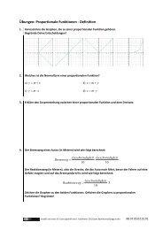Übungen: Proportionale Funktionen - Definition - dianoia