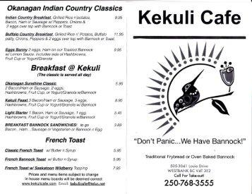 Kekuli Cafe Menu - MainMenus.com