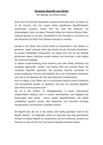 Afrika Begrifflichkeiten - NEIA eV