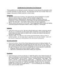 Guidelines for Cultivating Civil Discourse [PDF]