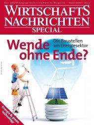 Ausgabe 11/2013 Wirtschaftsnachrichten Special Energie & green ...