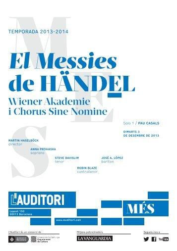 Prog. mà El Messies de Händel - L'Auditori