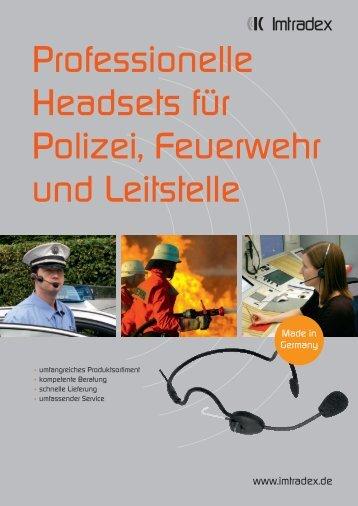 Katalog Polizei & Feuerwehr ES A - Imtradex