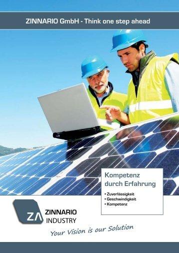 ZINNARIO GmbH - Think one step ahead Kompetenz durch Erfahrung