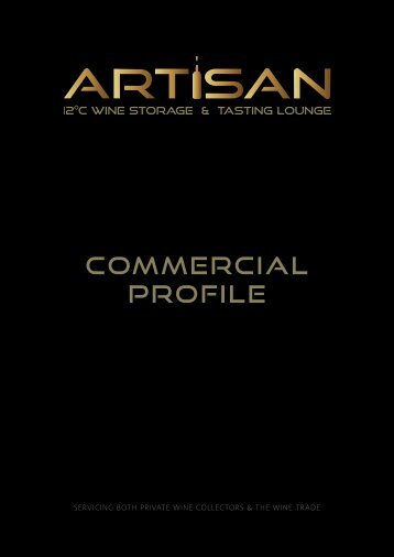 Download Commercial Profile - Artisan Wine Storage