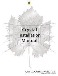 Crystal Installation Manual - Kleppinger Design