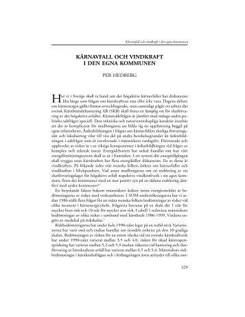 kärnavfall och vindkraft i den egna kommunen - Utbildning ...