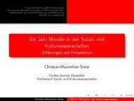 Ein Jahr Moodle in den Sozial- und ... - E-Learning NRW