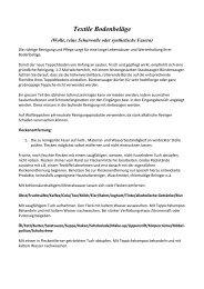 Textile Bodenbeläge - Villiger Bodenbelag AG