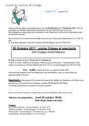 29 Octobre 2011 : soirée Crêpes et spectacle - Comité Jumelage