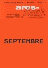 0 Journal du quartierde I'Esplanade 0 Année1977 0 Numér07 0 - Ares