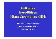 Fall einer hereditären Hämochromatose (HH) - Dr. Carl Oneta