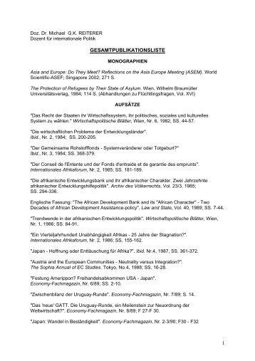 1 gesamtpublikationsliste - the European External Action Service ...