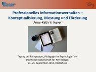 Professionelles Informationsverhalten - ZPID