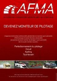 DEVENEZ MONITEUR DE PILOTAGE - AFMA SPORT