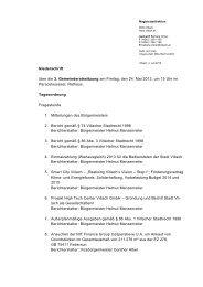 Niederschrift über die 3. Gemeinderatssitzung am Freitag ... - Villach