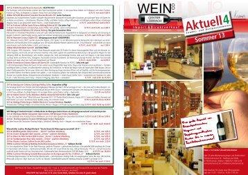Sommerangebote 2013 - Wein confiserie Kremer