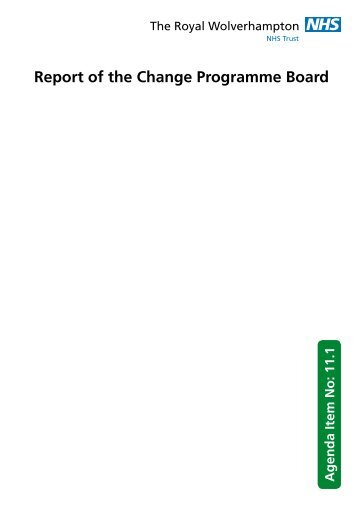 Report of the Change Programme Board - The Royal ...