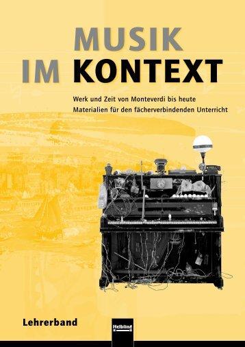Musik im Kontekt, Lehrerband - Helbling Verlag