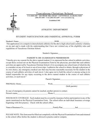 Physical Exam form for Sports Participation - Milford Middle School