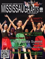 Summer/Fall 2013 Magazine - Mississauga Arts Council