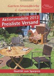 Preisliste Sunnysmart - Strandkorb Fachhandel Landhaus Pülsen