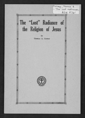 """""""Last"""" Radiance of the Religion of Jesus - Digital Repository Services"""