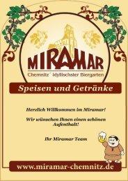 Speisen und Getränke - Miramar Chemnitz