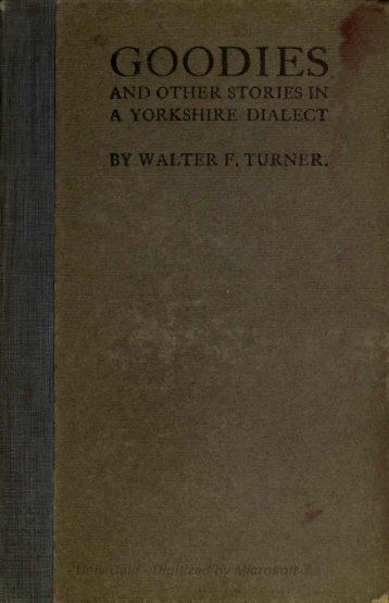Goodies in Yorkshire Dialect - Freepages