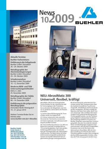 NEU: AbrasiMatic 300 Universell, flexibel, kräftig! - Buehler GmbH