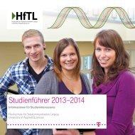 Studienführer 2013–2014 - Hochschule für Telekommunikation ...