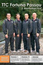 Saisonheft 2013/2014 - TTC Fortuna Passau