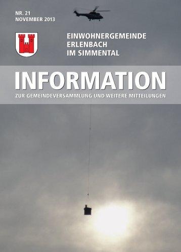 November 2013 - Erlenbach im Simmental