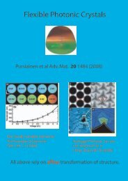 Flexible Photonic Crystals - Oxford Solid Mechanics