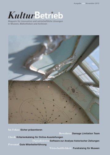 Ausgabe vier 2013 (November) - Magazin für innovative und ...