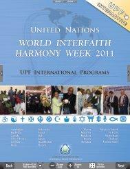 world interfaith harmony week 2011 - GIIA