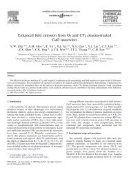 Enhanced field emission from O2 and CF4 plasma-treated CuO ...