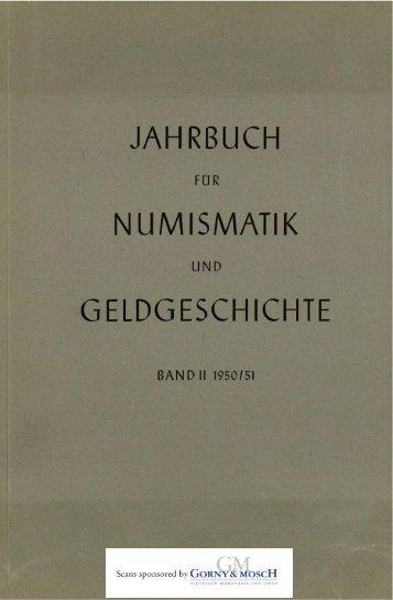 1950-1951 Band II - Bayerische Numismatische Gesellschaft