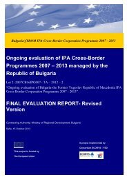 Ongoing evaluation of IPA Cross-Border Programmes 2007 – 2013 ...