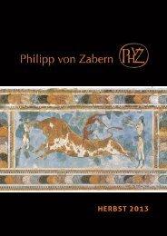 HERBST 2013 - Verlag Philipp von Zabern