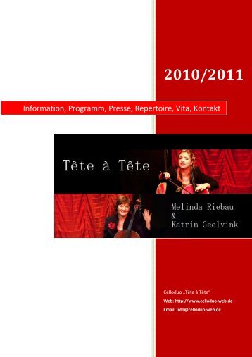 Information, Programm, Presse, Repertoire, Vita, Kontakt