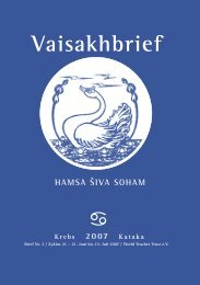Vaisakhbrief - The World Teacher Trust