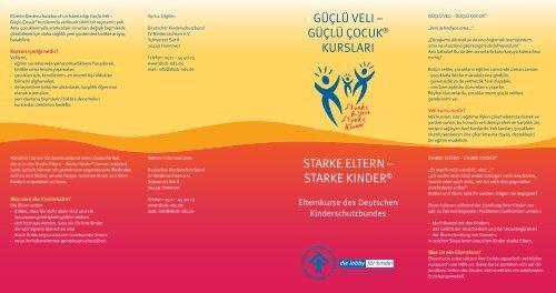 güçlü çocuk® kursları starke eltern - Deutscher Kinderschutzbund ...