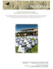 Wedding Packages PDF - Moonee Valley Racing Club