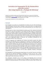Libertatis nuntius - Gemeinschaft vom heiligen Josef